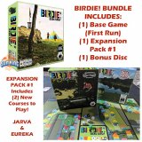 Birdie! Disc Golf Board Game (First Run) + Expansion Pack 1 (Jarva & Eureka) + BONUS DISC!