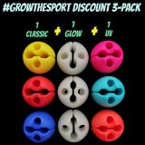 DiscDot Putting Practice Aide 3-Pack Bundle (1 Classic, 1 Glow, 1 UV)