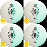 Set of (4) Discmania D-Line Glow P2 (Spider)