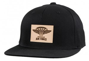 Innova Leather Patch Flatbill Cap (Air Force)