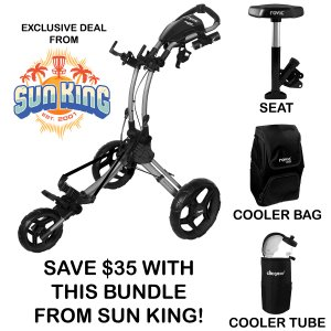 Rovic RV1D Disc Golf Cart (Beverage Bundle - Free Shipping)